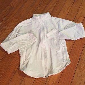 Lululemon white shape zip up athletic jacket